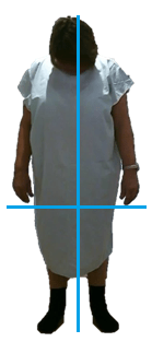 Simple posture test 1 - Front view