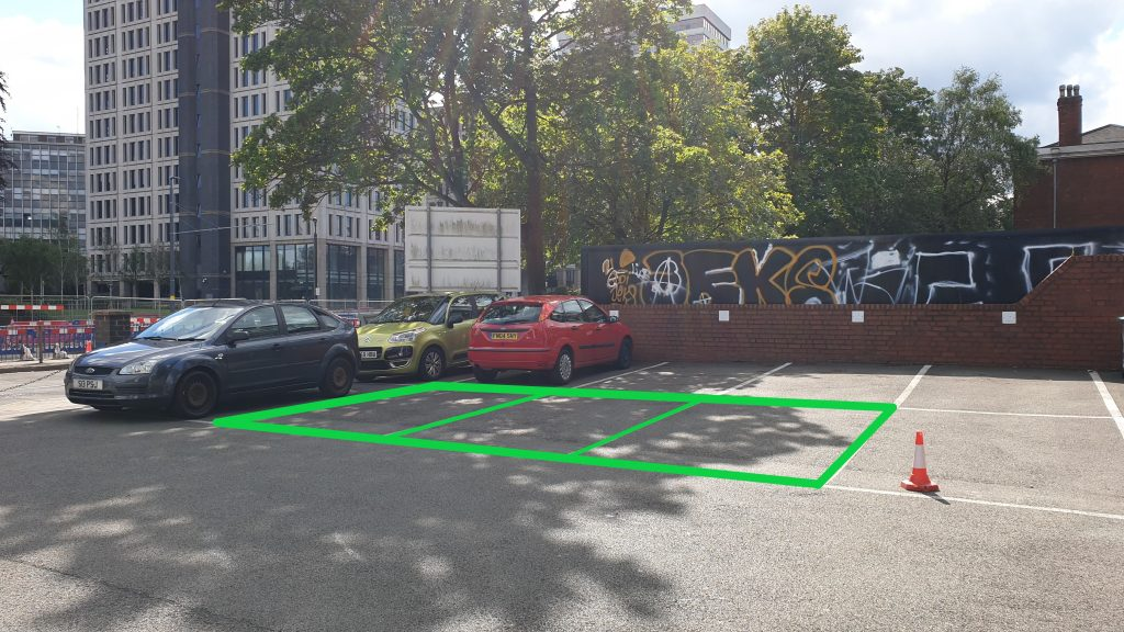 Upright Body Renewal Car Park Spaces contact us